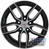 Диски 6.0J15 ET48 D54.1 NZ Wheels SH656 (4x100) BKF (Китай)
